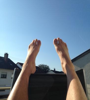 Einfach nur Füße hochlegen... so schön